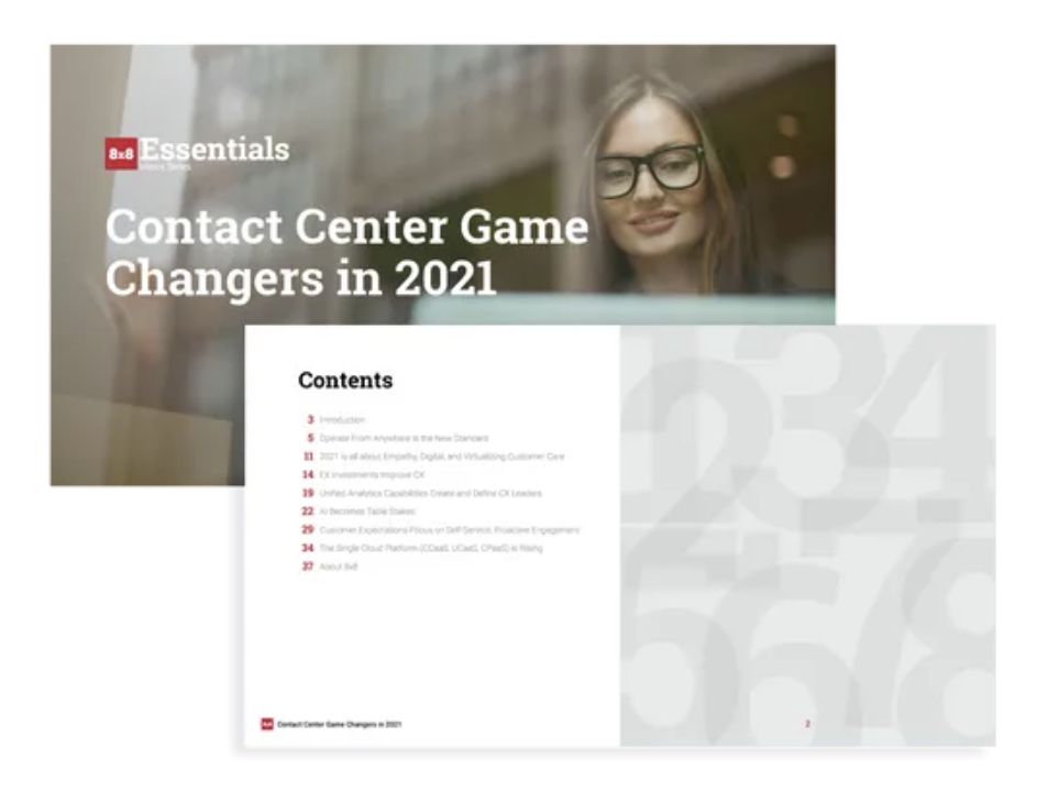 8x8 Contact Center Game Changers Images