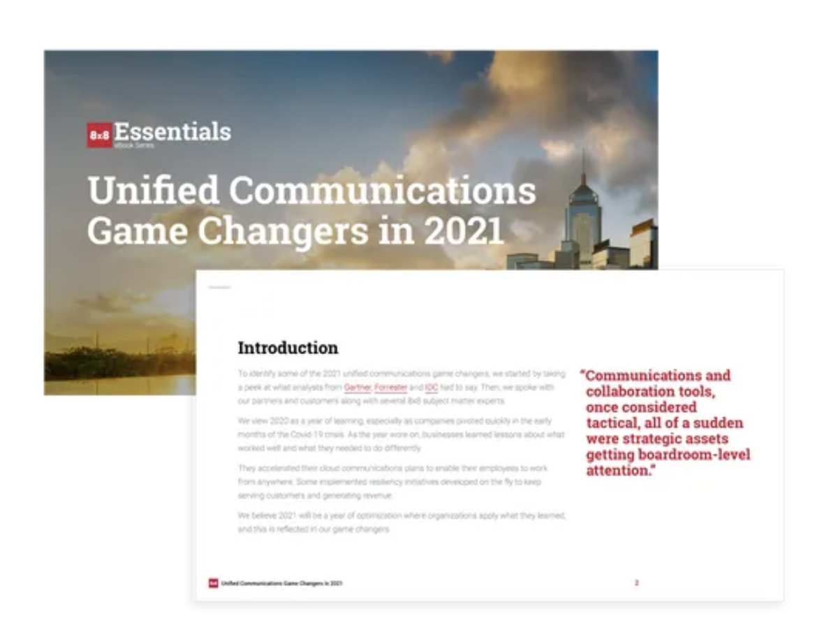 8x8 Unified Communications Game Changers in 2021 Image